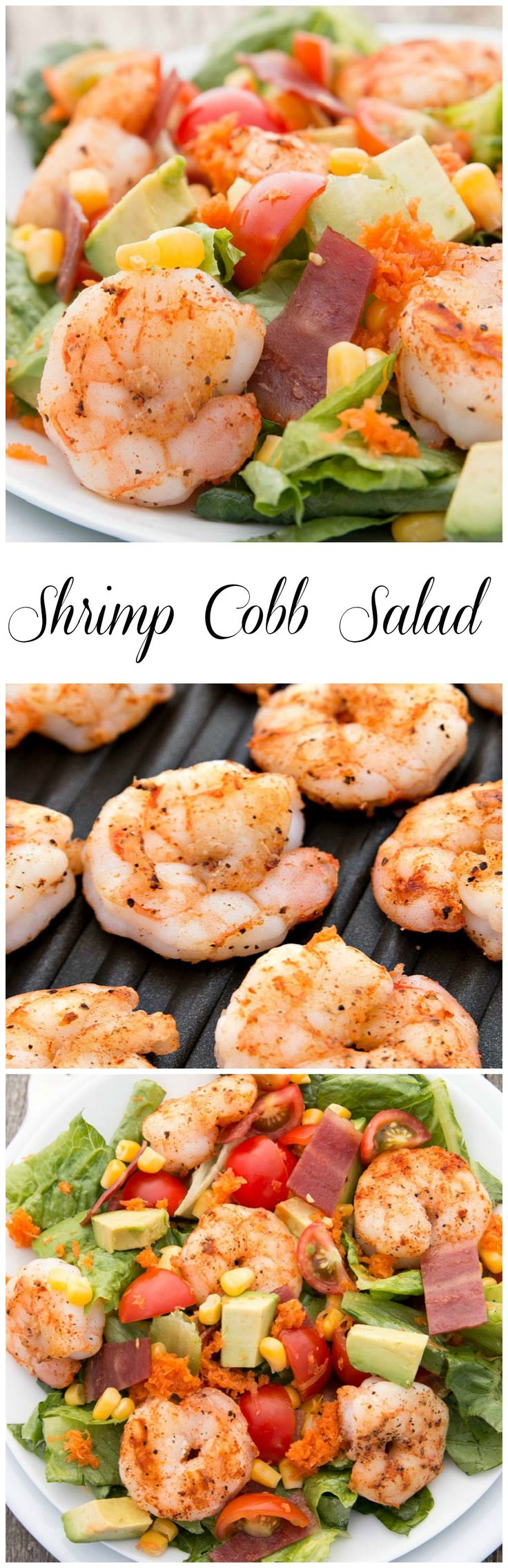This Shrimp Cobb Salad is a sensational summer time salad