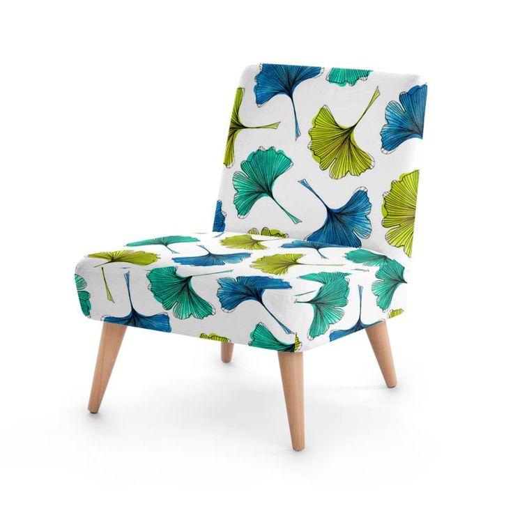 Ginkgo Flush Occasional Chair #design #ginkgo #botanical #pattern #furniture #design #fashion #home #hometrends #chair