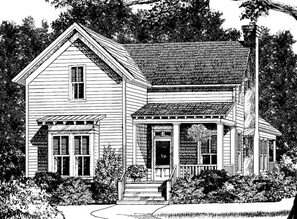 Simmons creek cottage 4 bedrooms 3 bathrooms 1658 for Cottage house plans for narrow lots