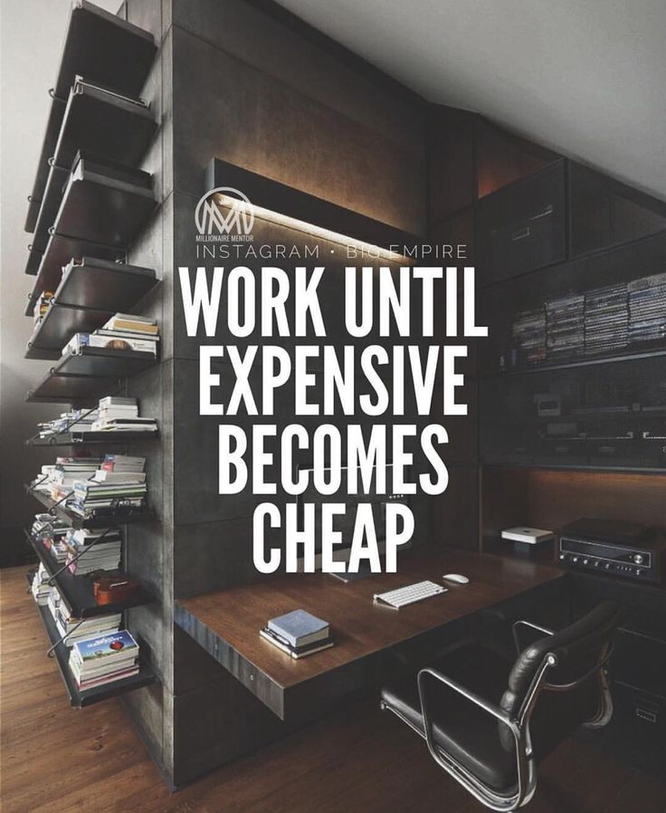 The motto Via: @big.empire #workhard #expensivebecomescheap by millionaire_mentor
