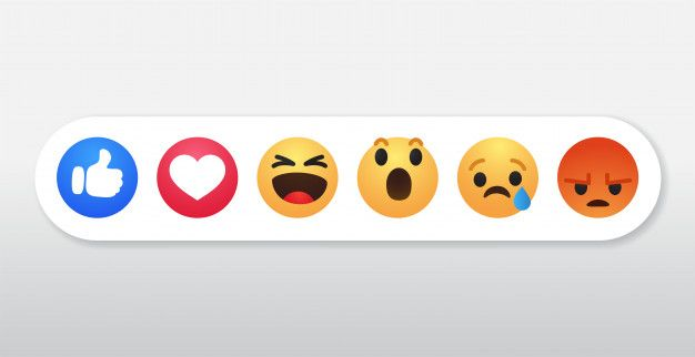 Facebook Reactions Symbol Icons Set In 2020 Icon Set Vector Photo Vector Free