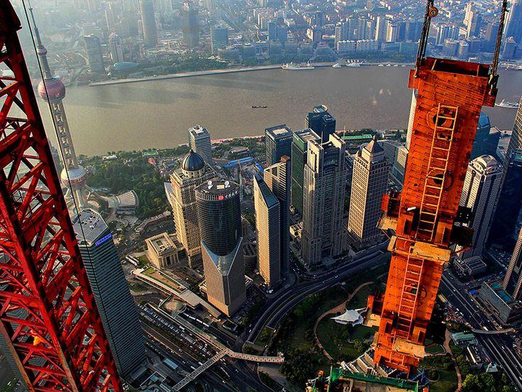 Gallery: Crane operator's breathtaking photos high above Shanghai