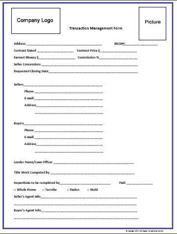 real estate transaction checklist pdf