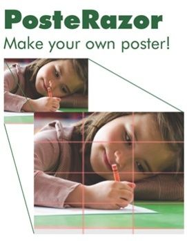 A simple program to make your own poster! PosteRazor is software that easily helps you make your own posters at school and at home. All that you need is a picture, the PosteRazor and a standard color printer. Why is a poster so appealing? Maybe it's because a poster is more than a photo. It is something that captures life in greater width and height. That's why posters also easily become keepsakes.