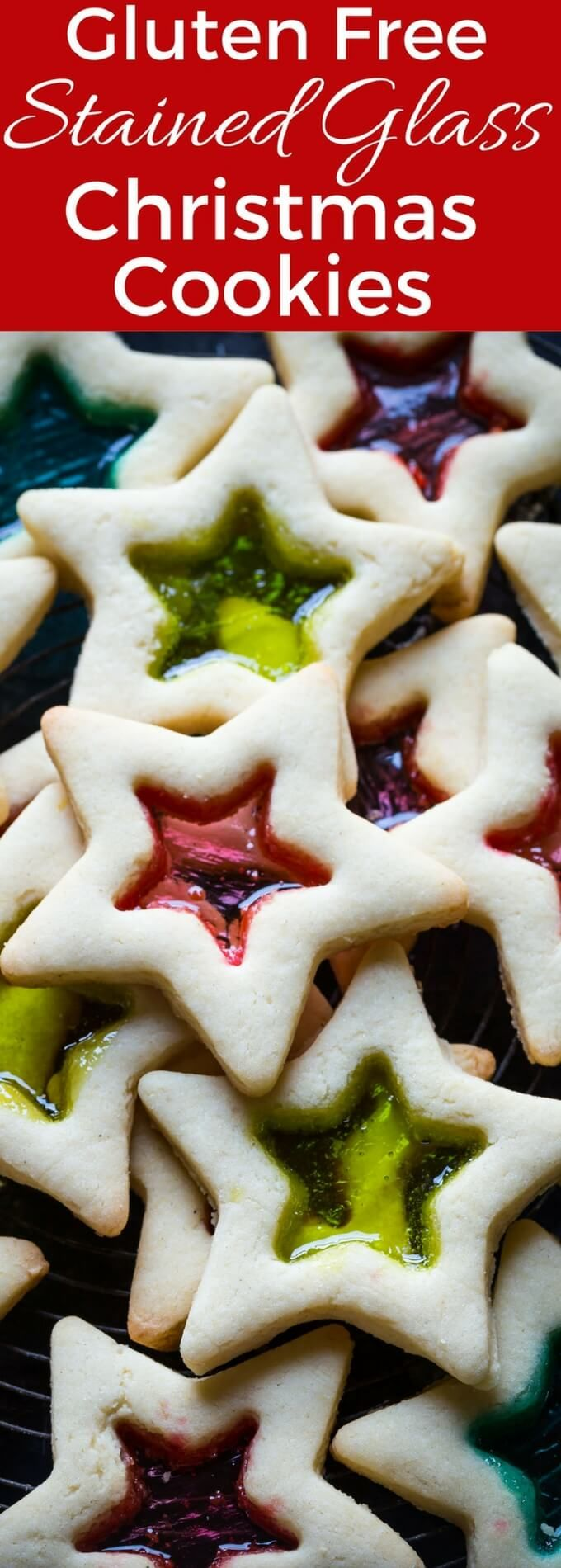 Beautiful Gluten Free Stained Glass Cookies for Christmas! You can can make these with your kids, they are SO easy!
