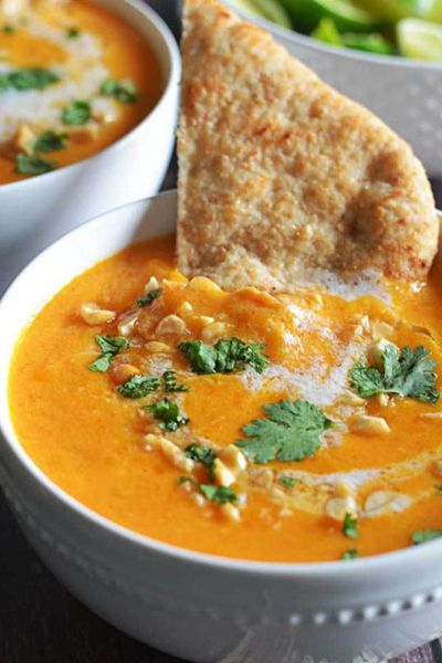 Thai Coconut Curry Butternut Squash Soup | Host The Toast