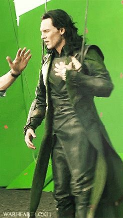 Loki *gif* Good god, his hair. Can I just please please just pet his beautiful locks of hair, just once. And maybe sniff it...