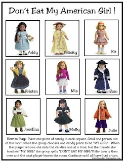 birthday parties American Girl Party Games ~ Free Printable Games photo