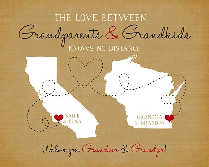25 unique personalized gifts for grandparents ideas on pinterest gift for grandparents long distance family personalized gift maps grandma and grandpa negle Images