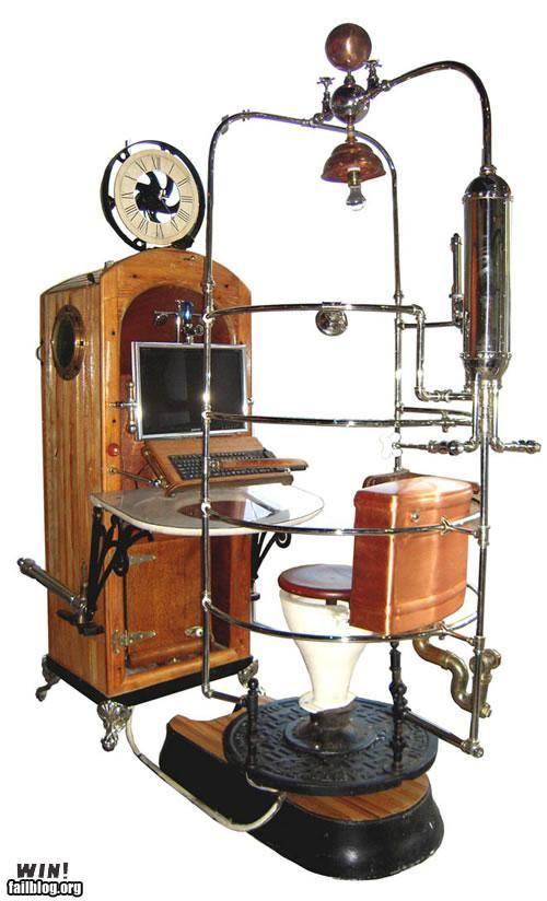 Steampunk Computer Workstation