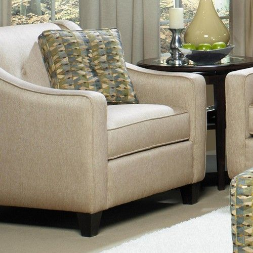 Craftmaster 706950 Contemporary Upholstered Chair And 1 2 With Button Detail Becker Furniture