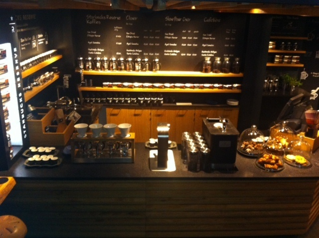 The coffee theatre at the Amsterdam Bank Starbucks