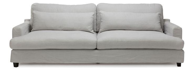 Vaxholm soffa/soffa - 3,5 sits i tyg Kiss m. avtagbar klädsel - Svenska Hem