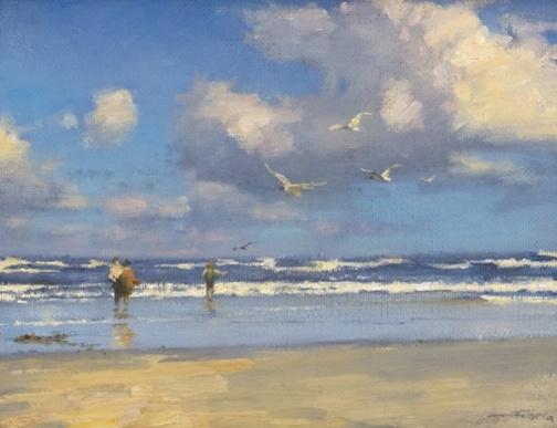 John Felsing, Figures on a Beach