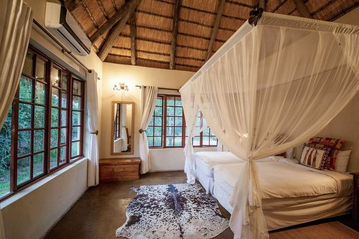 The Cottage -- one of the bedrooms -- Luxury safari lodge in KZN