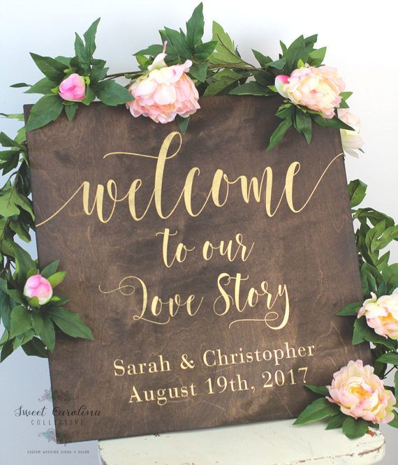 Wedding Welcome Sign / Welcome to our Love by SweetNCCollective