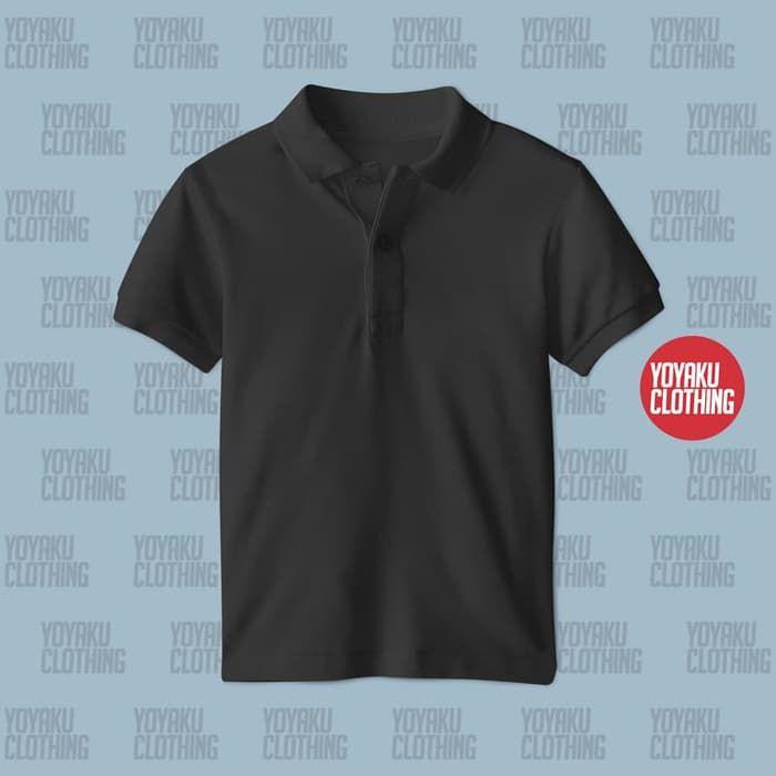 Jual Kaos Polo Hitam Hitam 3xl Yoyaku Tokopedia Dengan