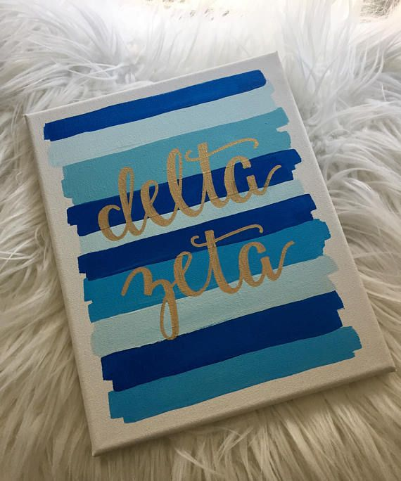 Delta Zeta Sorority Canvas // sorority painting // big little