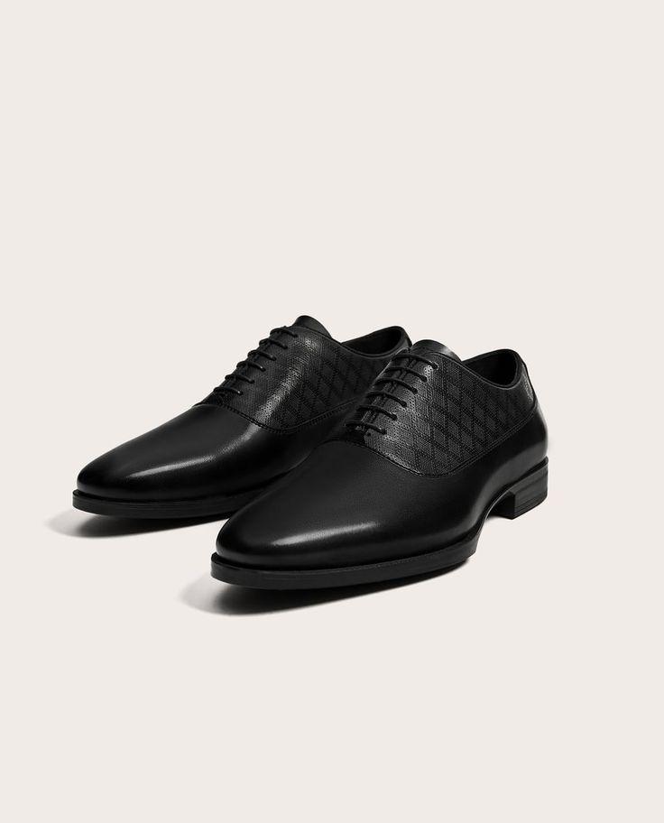 ZAPATO VESTIR NEGRO GRABADO-Zapatos vestir-ZAPATOS-HOMBRE-REBAJAS | ZARA España