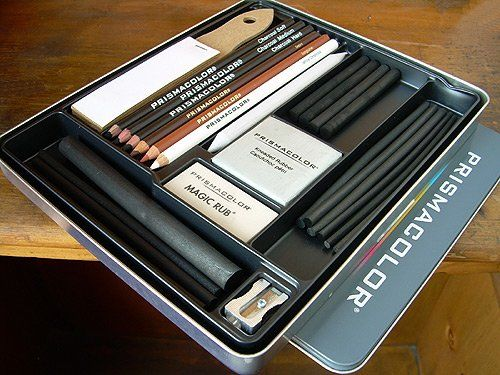 Prismacolor 24 Piece Charcoal Sketching Set - Prismacolor 24 Piece Charcoal Sketching SetThis set of professional quality charcoal drawing supplies is ideal for beginners and masters alike. Included are 10 sticks of vine charcoal (extra soft sof... - Charcoals - Arts & Crafts