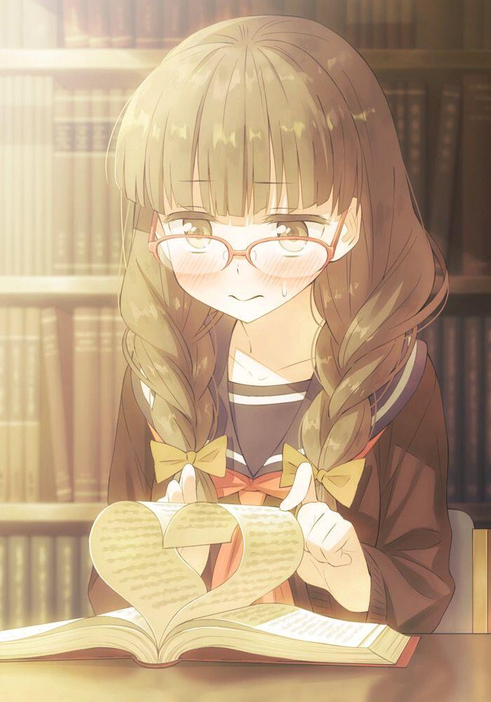 Anime school girl