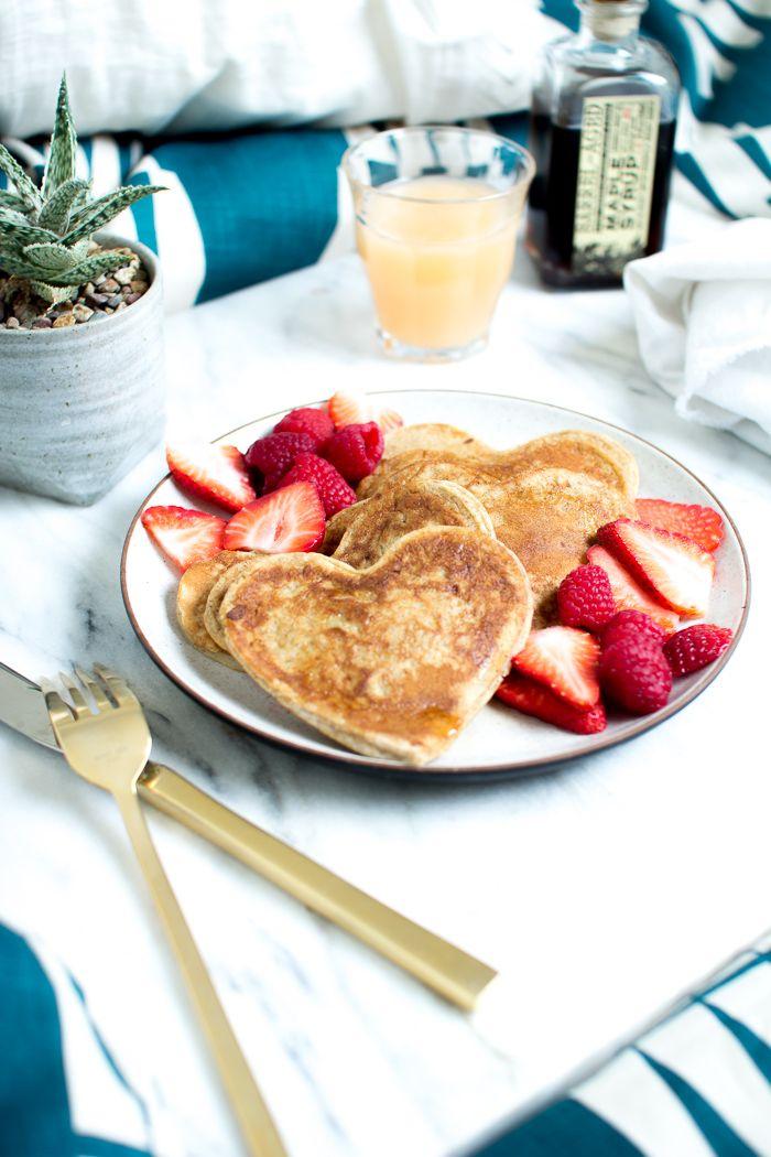 Flourishing Foodie: Heart Shaped Whole Wheat Banana Pancakes