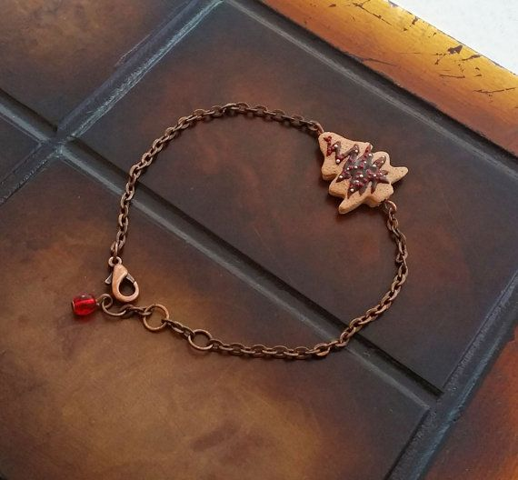 Gingerbread Christmas Tree Cookie Charm by EvasCreationsShop