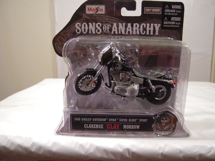 SONS OF ANARCHY DIECAST 2008 DYNA SUPER GLIDE MOTORCYCLE