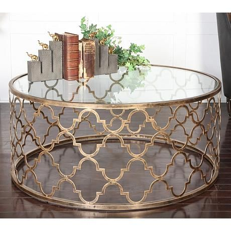 Uttermost Quatrefoil Antique Gold Round Coffee Table - 25+ Best Ideas About Round Coffee Tables On Pinterest Round