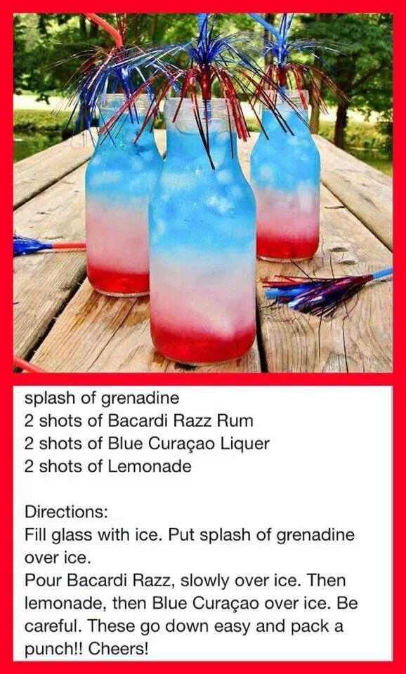 Fourth of July drink @lisazaura !!!