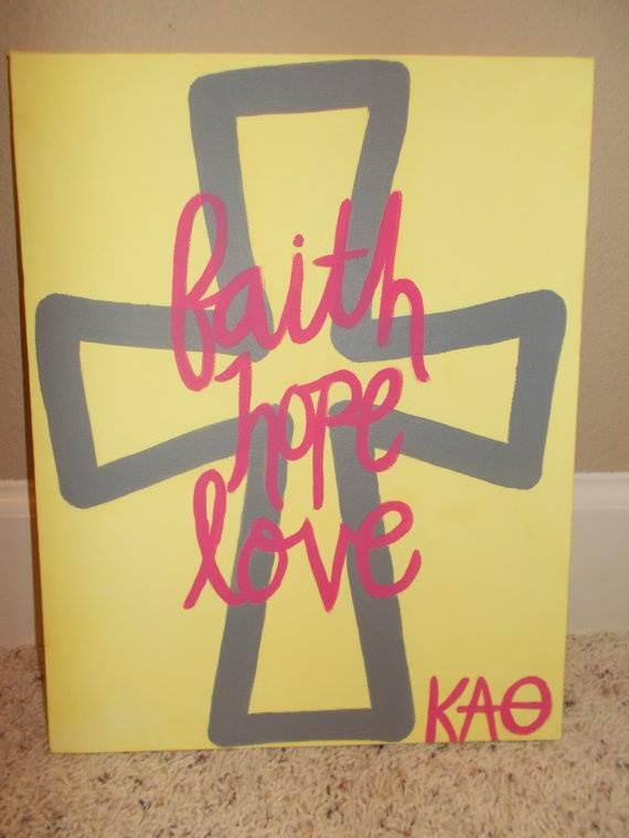 Handmade Kappa Alpha Theta Canvas by AthensDriveDesigns on Etsy... LOVE THIS