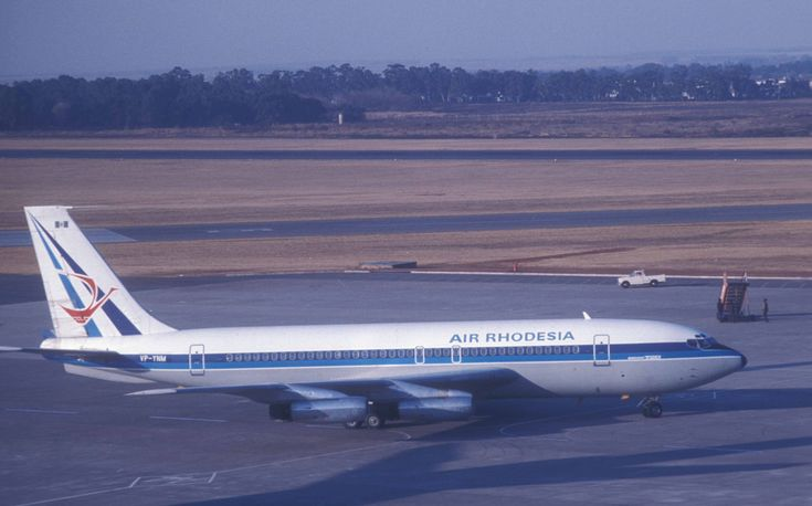 Air Rhodesia Boeing 720 Jan Smuts Airport, Johannesburg, South Africa.