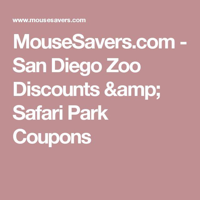 MouseSavers.com - San Diego Zoo Discounts & Safari Park Coupons