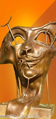 SALVADOR DALI CONTEMPORARY ART TRIBUTE BRONZE STATUE