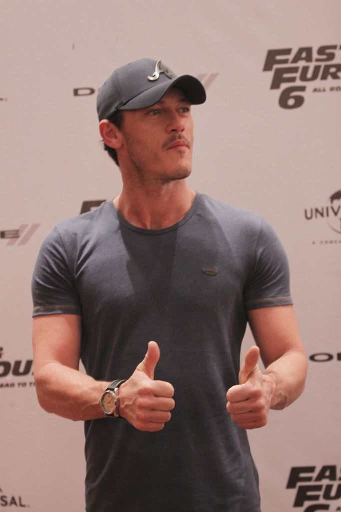 LUKE EVANS  all that?  and he sings too? ....THUD !!!
