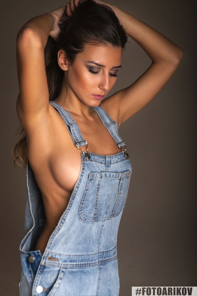 Remarkable Women nude in dungarees