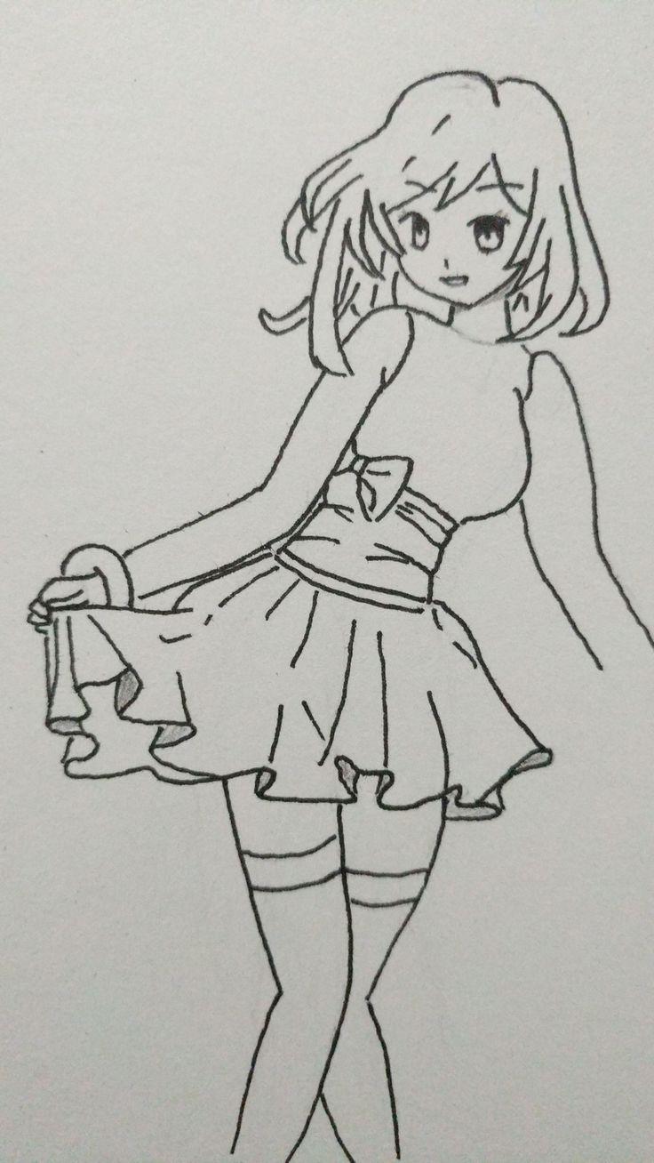 Fashionable #manga #girl #draw #skirt
