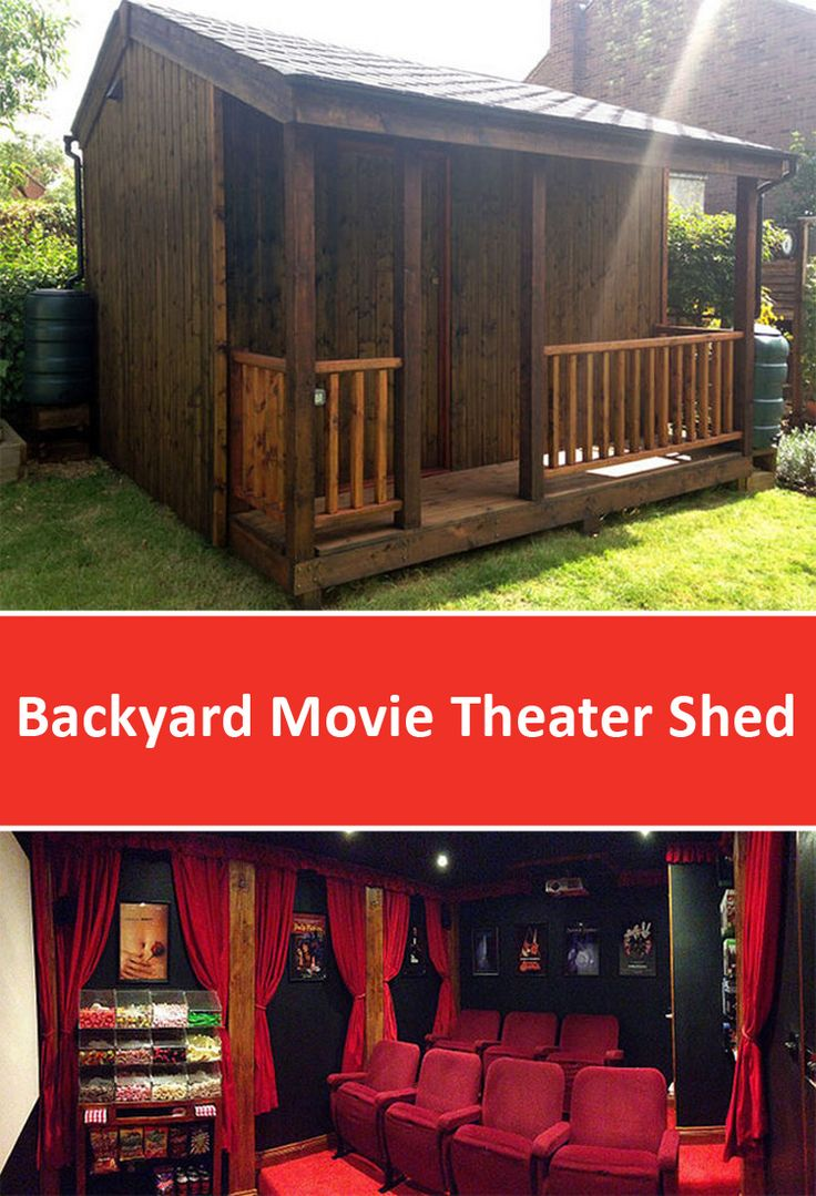 Backyard Movie Theater Shed Designed by Torii Cinema Co.