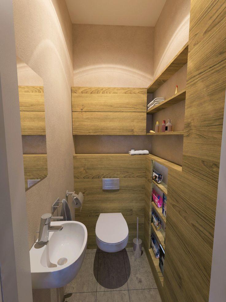 Látványterv mosdó / Architectural visualization WC