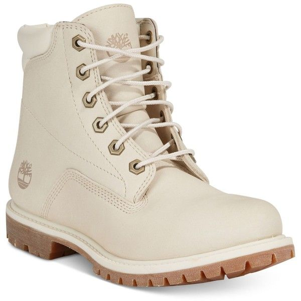 Timberland Women's Waterville Waterproof Boots, Created for Macy's ($150) ❤ liked on Polyvore featuring shoes, boots, light grey, timberland footwear, waterproof boots, timberland boots, water proof shoes and light grey boots