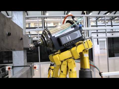 Robot machining cell demonstration