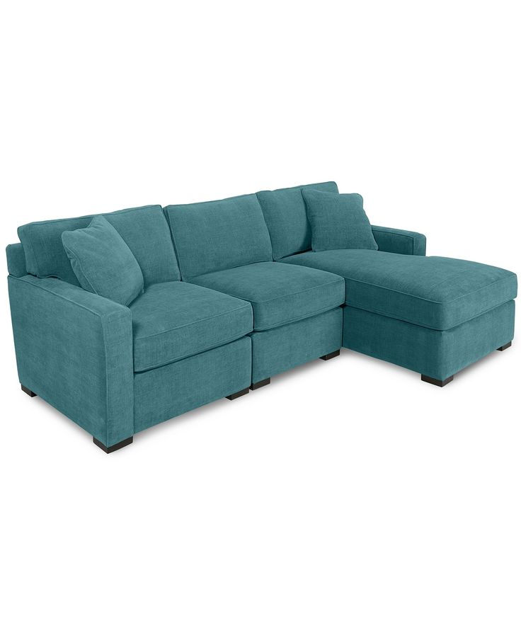 Radley 3 piece fabric chaise sectional sofa custom colors for Kenton fabric sectional sofa 3 piece