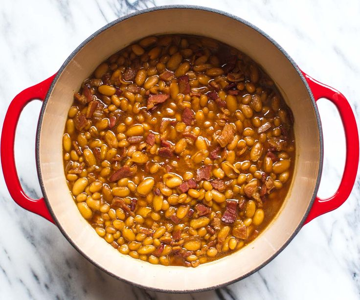 Baked Beans in the Dutch Oven (and 9 other easy one-pot recipe ideas)! | pinchofyum.com
