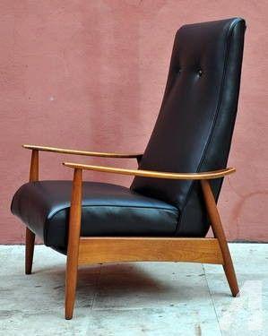 mid century recliner chair' | Mid-Century Danish Modern Milo Baughman Recliner Lounge Chair for sale ...