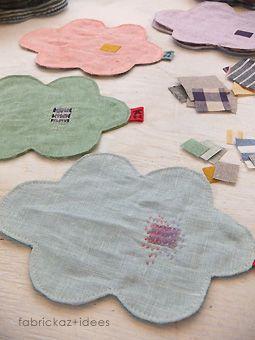 handmade*zakka   fabrickaz+idees lovely clouds