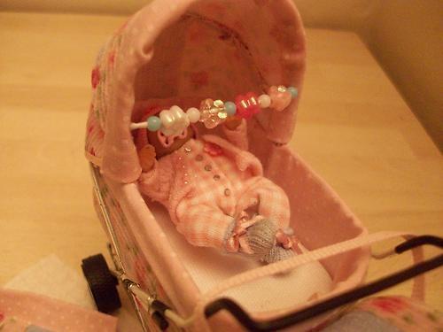 B'Ful OOAK Baby Cathy Designer Pram 1 12 Scale Dolls House | eBay
