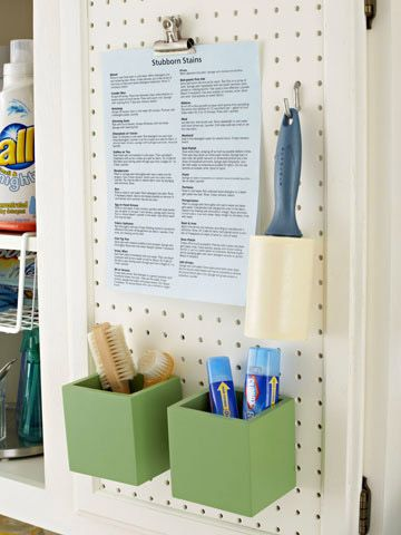 Laundry stain list station