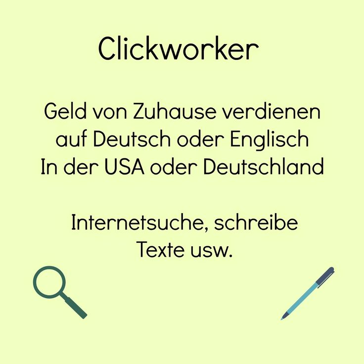 USA billig aber gut leben: Clickworker Geld von Zuhause verdienen, ohne Geld zu investieren. Clickworker kann dir ein kleines Zuverdienen ermöglichen. Perfekt für Hausfrauen/-maenner. Du kannst das in der USA oder Deutschland machen, auf Deutsch oder Englisch
