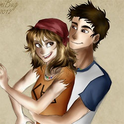 Chris and Clarisse. I feel like this pairing made me happier than it was intended to.