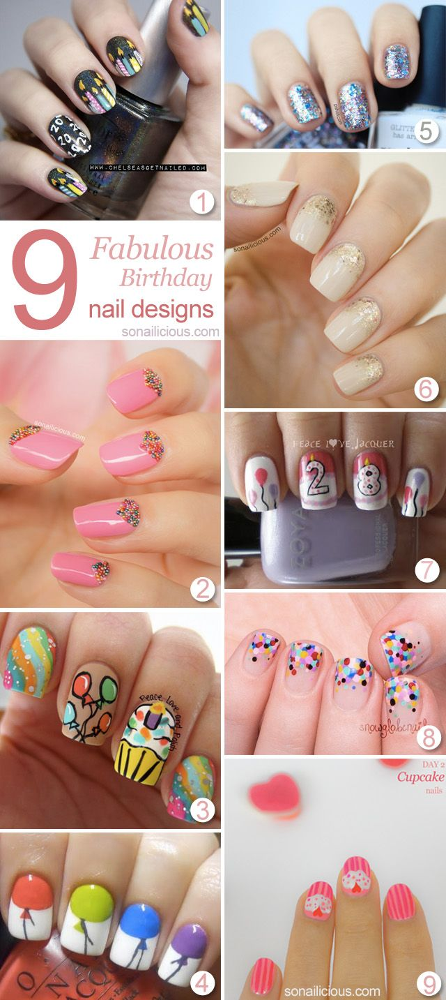 Amazingly cute and fabulous nail art designs - 9 Fabulous Birthday Nails To Inspire